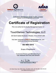 TouchSensor is an ISO certified company